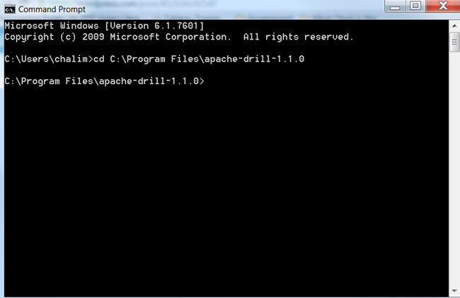 Command Prompt Drill